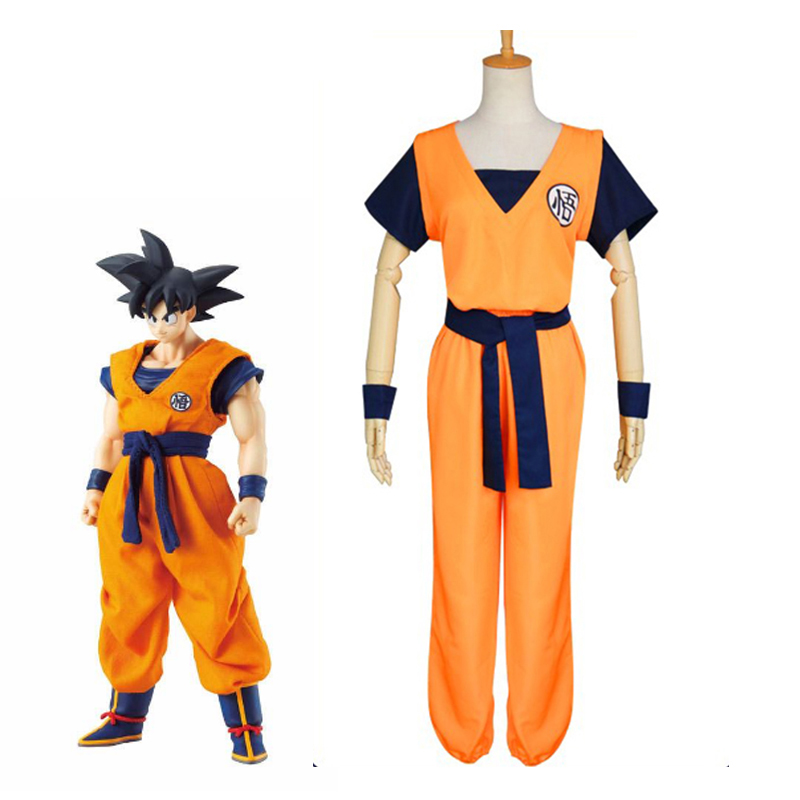 Anime Dragon Ball Kakarotto Cosplay Costume Son Goku Kungfu Suit Halloeen Carnival High Quality Uniforms For Kids and Adult