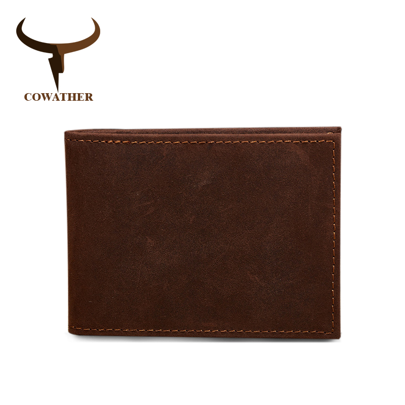 COWATHER Cow Genuine Leather Driving Licence Wallet For Men Fashion Crazy Horse Leather Top Quality Fashion Design Male Purses