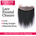 DHL Free 7A Full Frontal Lace Closure 13x4 Brazilian Lace Frontal Closure Ear To Ear Lace Frontal Closure Kinky Straight Frontal