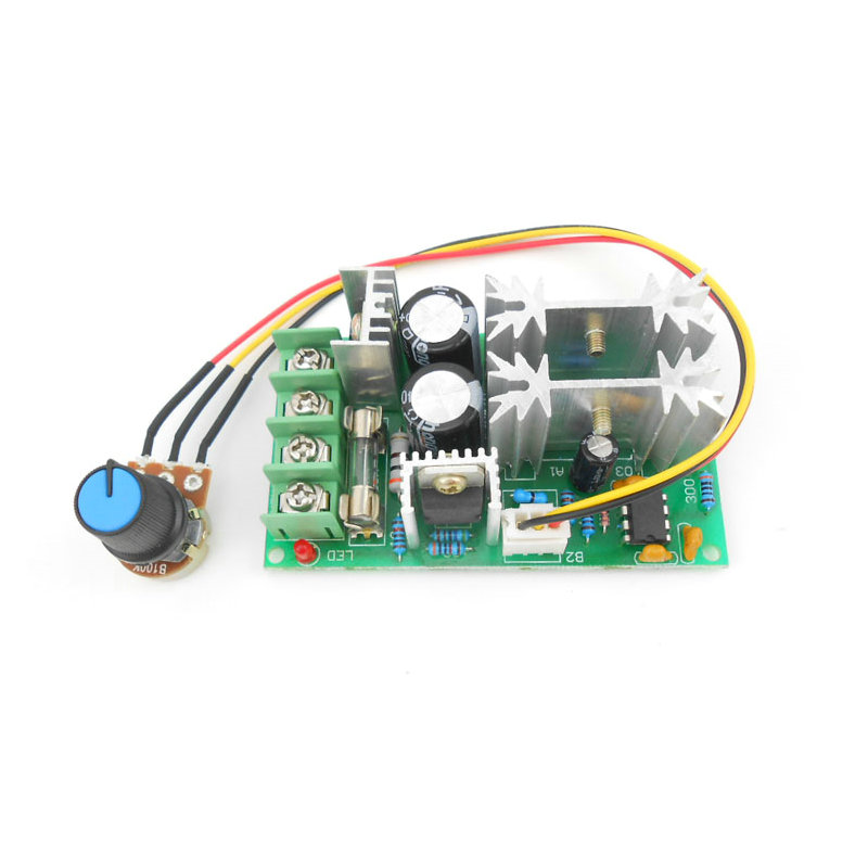 цена DC motor speed regulator 12V 24V 36V 48V High power drive module PWM Motor speed controller 20A current regulator