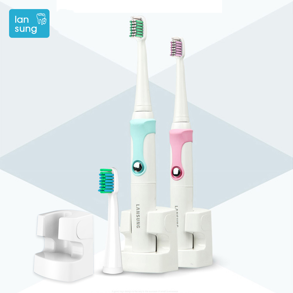 Lansung Oral Hygiene Rechargeable Ultrasonic Electric Toothbrush Sonic Teeth Tooth Brush Electronic Toothbrushes Sonicare Brush lansung ultrasonic sonic toothbrush tooth brush teeth adult electric toothbrush oral irrigator gifts dental floss 60
