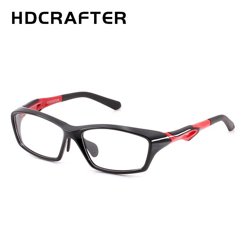 HDCRAFTER Tr90 Mens Sports Eye Glasses Frames Fashion Prescription Myopia Hyperopia Optical Glasses Frame For Men Spectacle