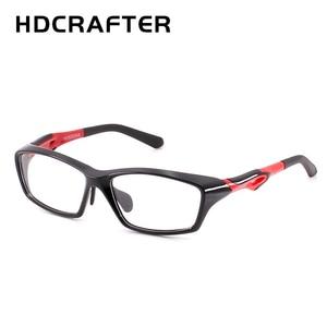 Image 1 - HDCRAFTER tr90 mens sports eye glasses frames fashion prescription myopia hyperopia optical glasses frame for men spectacle
