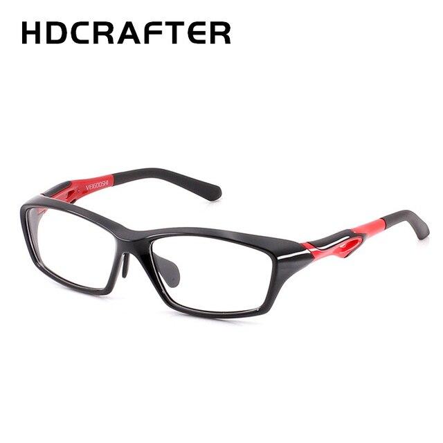 HDCRAFTER tr90 mens sports eye glasses frames fashion prescription myopia hyperopia optical glasses frame for men spectacle