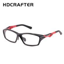 Hdcrafter tr90 óculos de olho dos esportes dos homens quadros de moda prescrição miopia hyperopia óculos ópticos quadro para homem espetáculo
