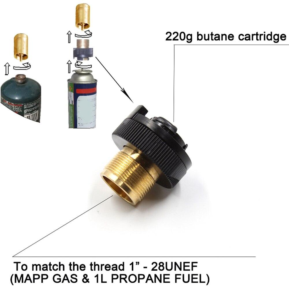 Propane Bottle Cartridge Converter Camping Adapter Gas Filling Adaptor 30X40mm