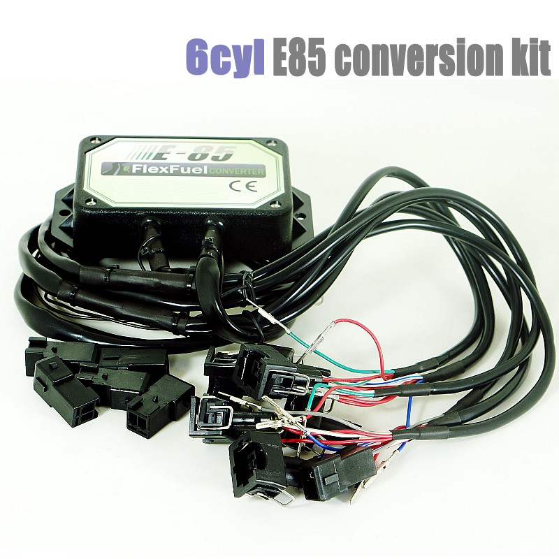 6 Cylinder E85 Conversion Kit Flex Fuel Ethanol Alternative Fuel With Cold Start Asst. Connectors Available For EV1,Nippon Denso