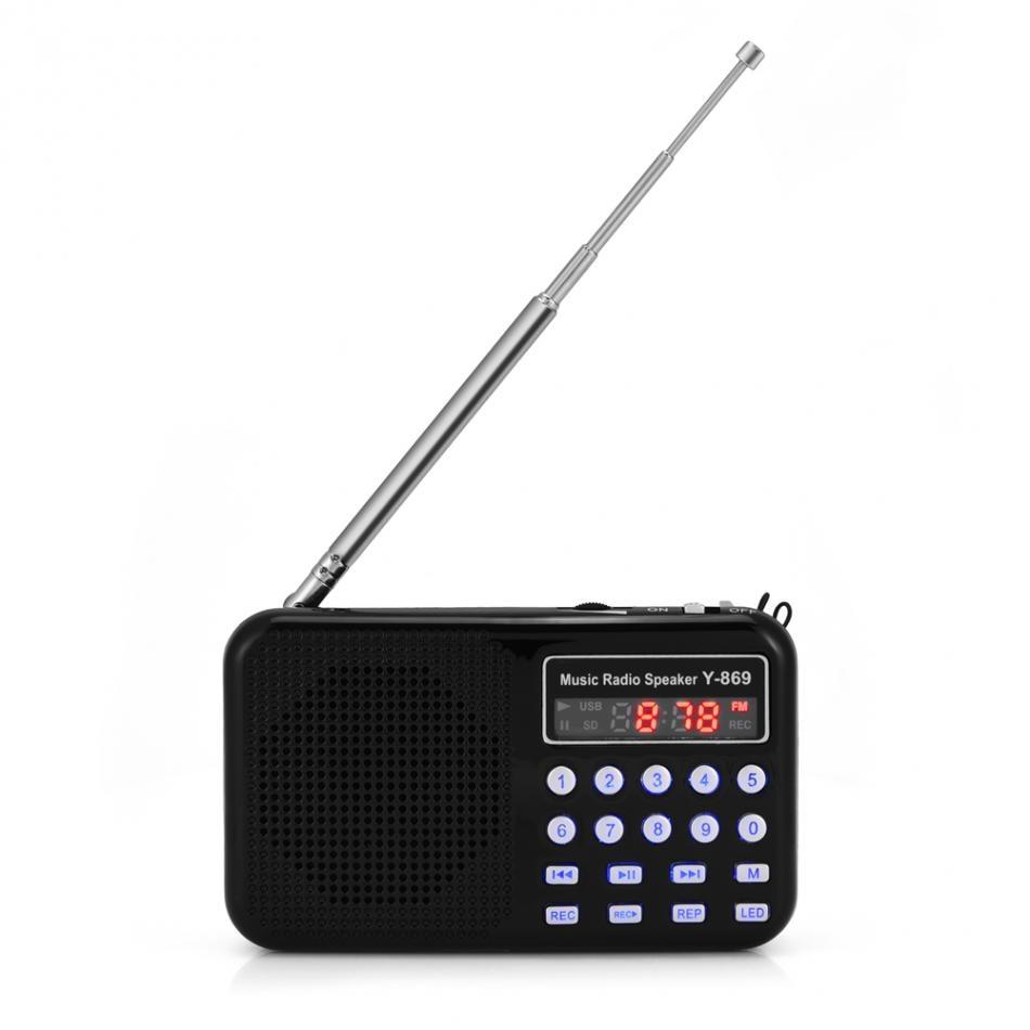 Tragbare Digitale Audio Radio Musik-player Lautsprecher Led Taschenlampe Unterstützung Fm Radio Tf Karte Usb Disk Klar Und Unverwechselbar Unterhaltungselektronik Tragbares Audio & Video