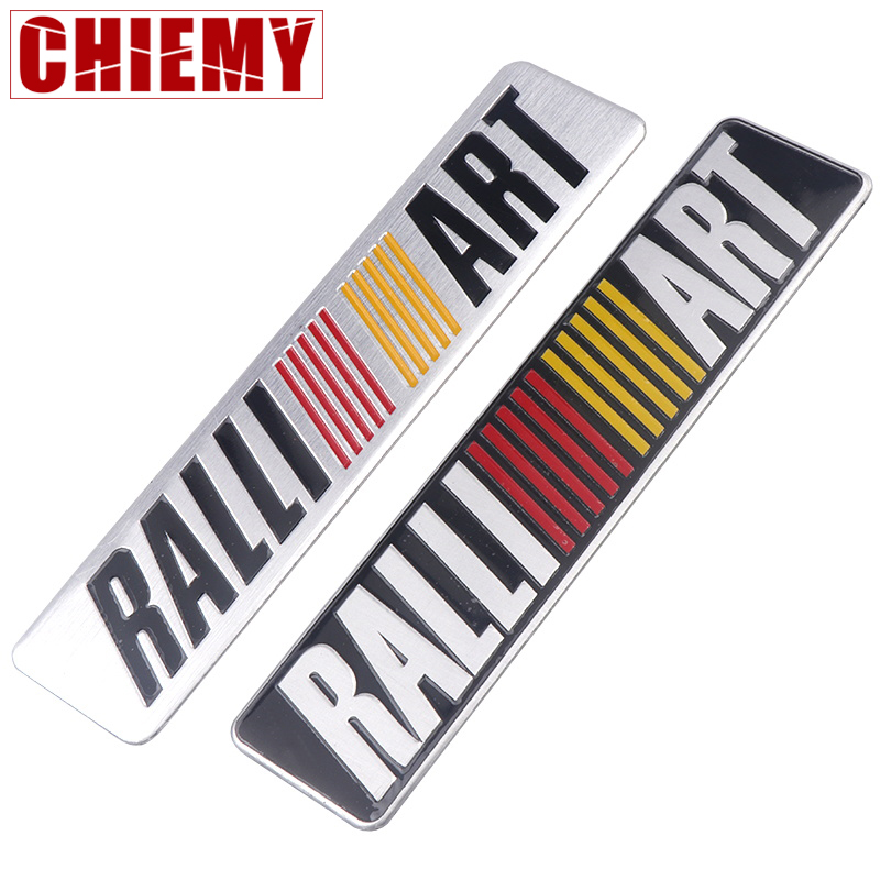 3D Car Styling Aluminum RALLI ART Emblem Badge Sticker Decal For Mitsubishi Lancer Asx Outlander Pajero Galant Auto Accessories