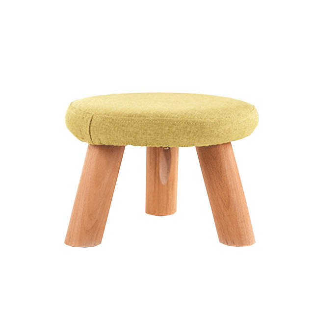 13 3 Tabouret Bas Tabouret Carre Pied Bois Peut Decrocher Et Laver Petit Tissu Art Canape Table A The Banc In Tabourets Et Poufs From Meubles On