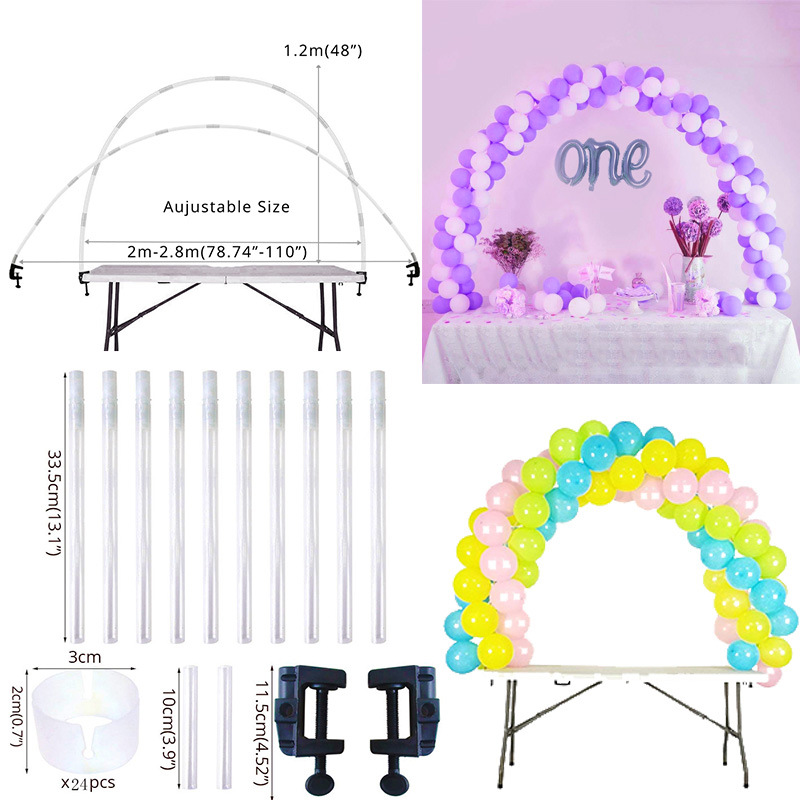 Cyuan 38Pcs Balloon Arch Table Stand Birthday Party Balloons Accessories Clamps Wedding Decoration Table Ballons Arch Frame KitCyuan 38Pcs Balloon Arch Table Stand Birthday Party Balloons Accessories Clamps Wedding Decoration Table Ballons Arch Frame Kit