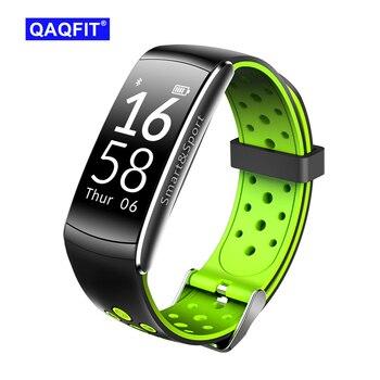 Qaqfit Olahraga Pintar Gelang Q8 Jantung Kecepatan Monitor Kebugaran Pelacak Anti-Air Pesan Pemberitahuan Smartband untuk Android dan IOS