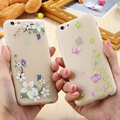 Fantasy Flower Cane Vine Luminous Phone Cases For iPhone 6 7 6S Plus Case Flying Butterfly Pattern Clear Silicone Cover Coque