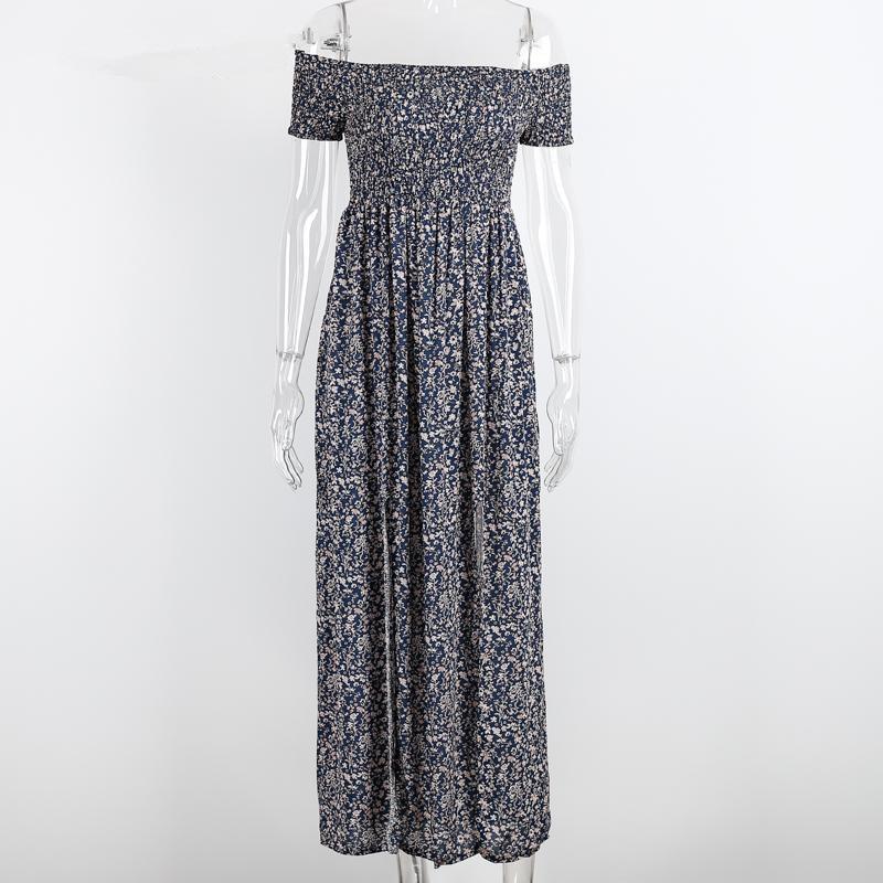 834bdecb765 Sexy strapless beach summer dress sundresses Vintage tunika maxi dress Boho  floral women split long dress vestidos de fiesta-in Dresses from Women s ...
