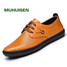 2017 Мужская обувь натуральная кожа летняя повседневная обувь дышащие мягкие для вождения мужские лоферы ручной работы Мужская обувь size38-44