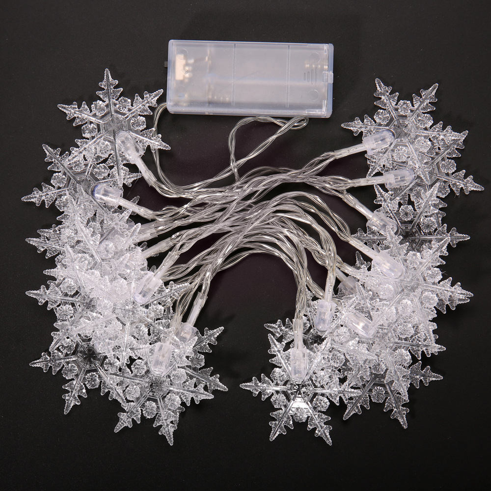 20 LED Snowflake String Lights New Year Holiday Wedding Party Garden Christmas Decorations Christmas Tree Decorations