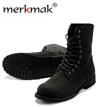 Free shipping! Retro Combat boots Winter England-style fashionable Men's High Top Black shoes Hot Sale Men Ankle Boots LS034