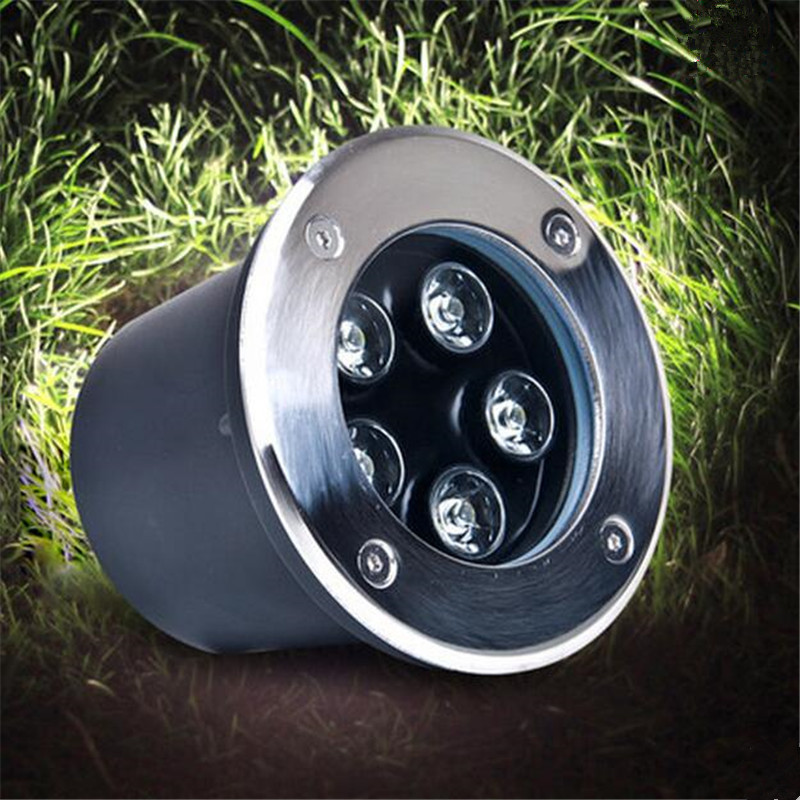 Free Shipping 5w Ip68 Ce Rohs Ac85-260v/dc12v Recessed Lighting Outdoor Lamp Led Spot Floor Garden Yard Led Underground Light Convenient To Cook Lights & Lighting