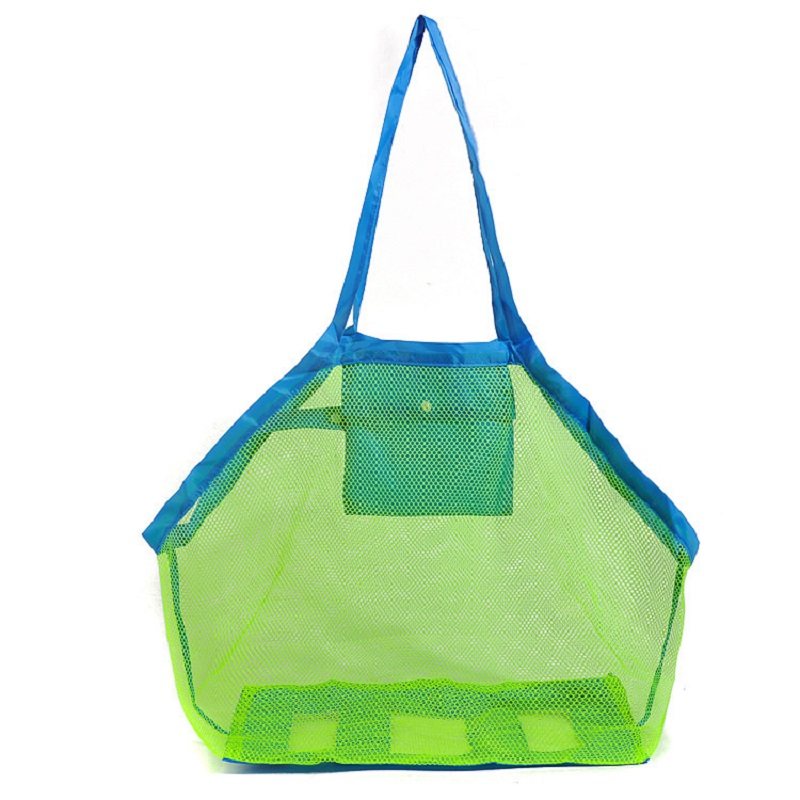 Mounchain Durable Holding Toys Balls Beach Mesh Tote Bag Beach Swimming Bag Children Toys Stay Away From Sand Swim Sport Bag