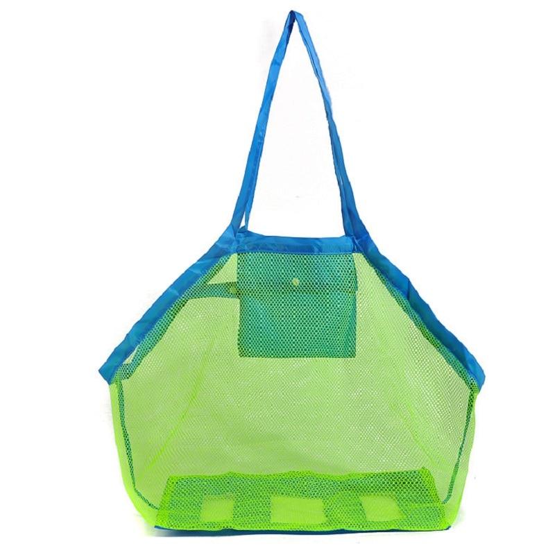 Mounchain Durable Holding Toys Balls Beach Mesh Tote Bag Beach Swimming Bag Children Toys Stay Away From Sand Swim Sport Bag