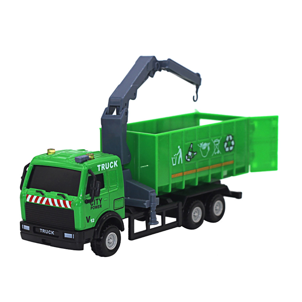 Hiinst inductive truck 2017 1:43 Racing Bicycle Shop Truck car toy Carrier Vehicle Garbage magic toy truck*R Drop