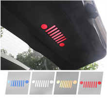 New & Cool Aluminium Auto Tail Door Inside Emblem Vehicle Logo Sticker for Jeep Renegade 2015 2016