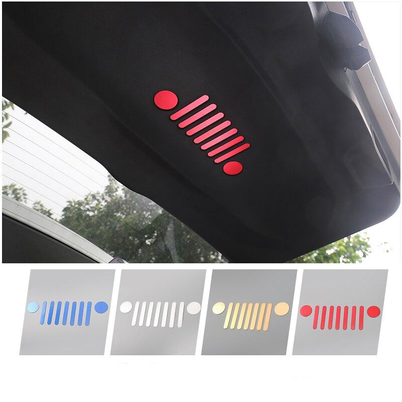 Prix pour Nouveau & Cool En Aluminium Auto Queue Porte À L'intérieur Emblème Véhicule Logo Autocollant pour Jeep Renegade 2015 2016