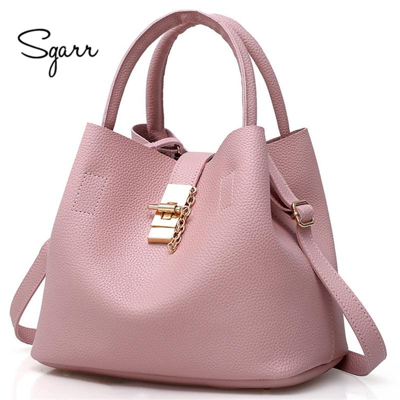 SGARR Black Red Women Bags Bucket Bag Crossbody Single Shoulder Female Handbag Designers Luxury Messenger Bag Women Mother Bags