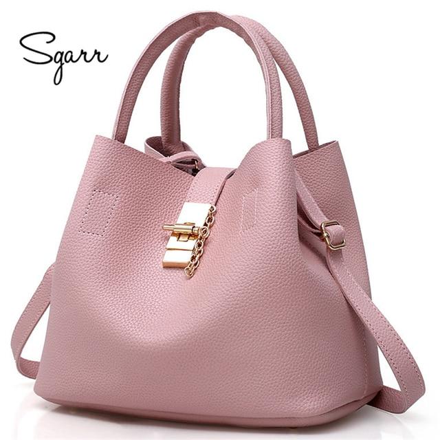 SGARR black red women bags bucket bag crossbody single shoulder female  handbag designers luxury messenger bag 396237948a