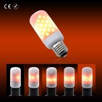 2 4 6 8pcs LED Lamp Flame Bulb Corn Light E27 E26 AC85 265V 63leds Christmas