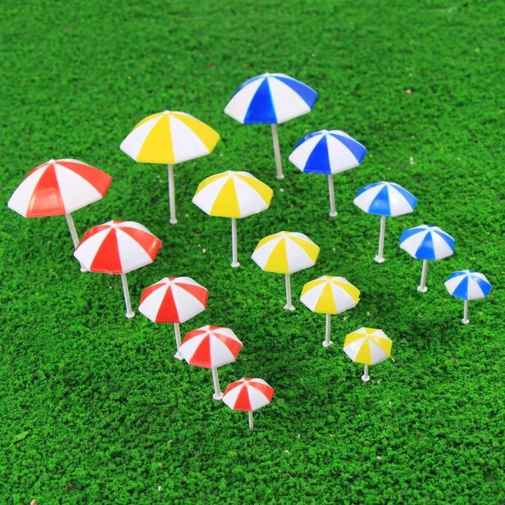 Model Building Sunny Tys12075 10pcs Model Train Railway Sun Umbrella Parasol 1:75 Oo Scale Garden Sea Beach Plastic Model Umbrella Model Building Kits