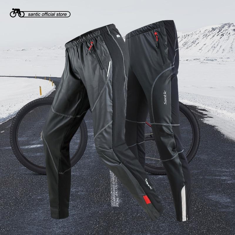 Santic мужские Велоспорт трикотажные брюки полный длинные брюки и зимние ткани Ветрозащитный Спорт Велоспорт бег досуг брюки C04007/KP6201