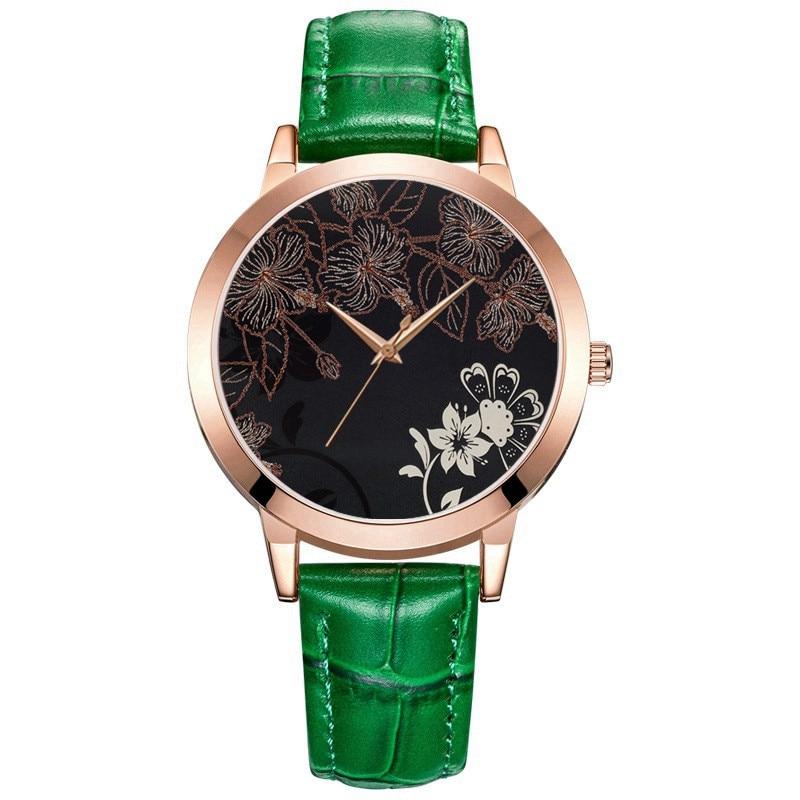О Феникс цветок часы Для женщин в богемном стиле Женская кварцевые часы наручные часы для Для женщин минималистский часов сладкий часы
