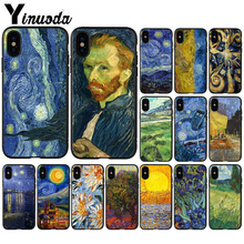 Yinuoda Van Gogh Tardis  TPU Soft Silicone Phone Case Cover for iPhone 8 7 6 6S Plus 5 5S SE XR X XS MAX Coque Shell babaite van gogh tardis tpu soft silicone phone case cover for apple iphone 8 7 6 6s plus x xs max 5 5s se xr mobile cover