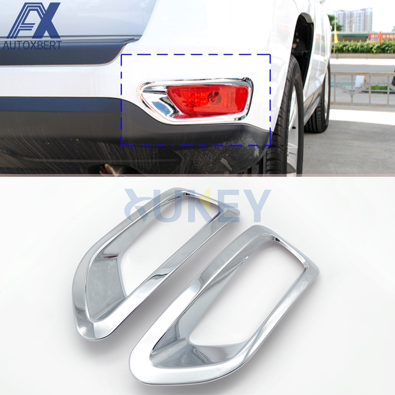 For 2011 12 2013 2014 2015 JEEP COMPASS Chrome Tail light Cover Taillight Bezel