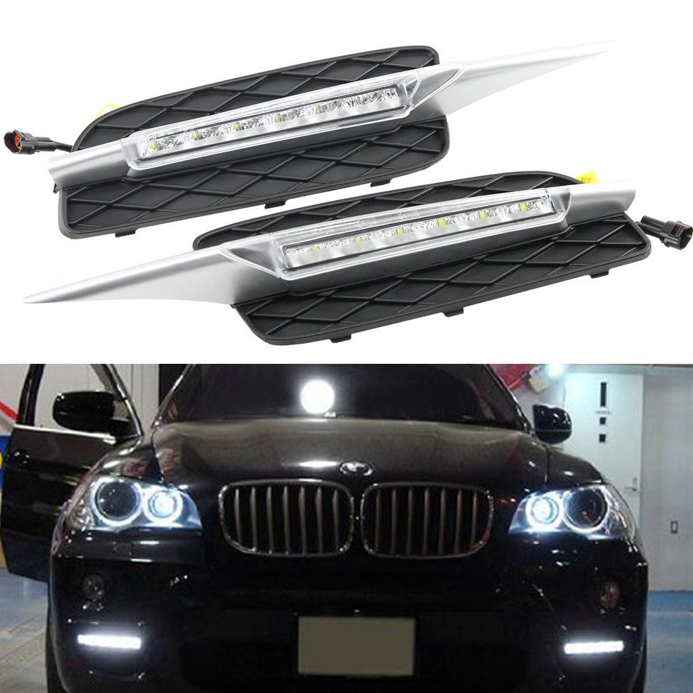 HOT SELL LED Daytime Running Light for BMW X5 E70 07-09 LED DRL 12V high power 8 led daytime drl running light