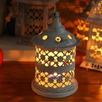 Home Decoration Retro Hollow Holder Porta Tealight Candeliere Lanterna Appesa Gabbia Per Uccelli D'epoca Di Natale/Fata Wedding/Partito Decors3