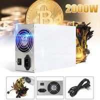 2000W Mining Mine Power Supply For 8GPU Eth Rig Ethereum Coin S9 S7 L 3 170V 240V