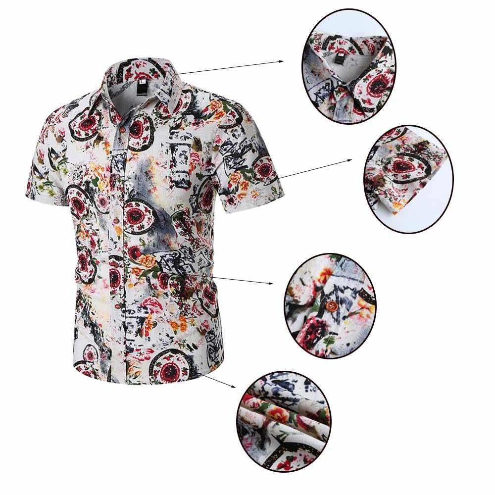 Fadzeco アフリカレトロプリントボタン半袖男性シャツビッグサイズ Dashiki ファッションデザインポロネックアフリカシャツ男性のための