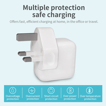 USB Charger Plug,USB Universal Mains Power Adapter Wall 5V 2.1A Outlets Charging UK Plugs Travel Desktop