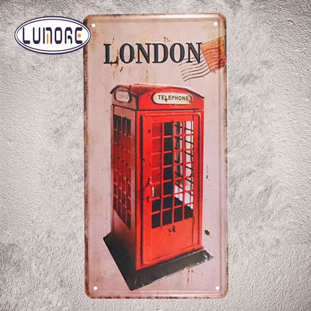 London Telephone Booth Car License Plate Vintage Home Decor Metal ...