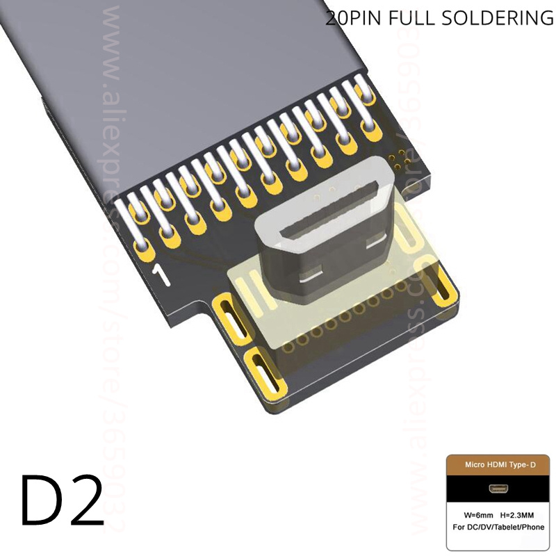 Micro HDMI D Type Mini HDMI C Type HDMI A type Connector Converter Adapter Cable Up Down Right Left Angle Male to Male in Computer Cables Connectors from Computer Office