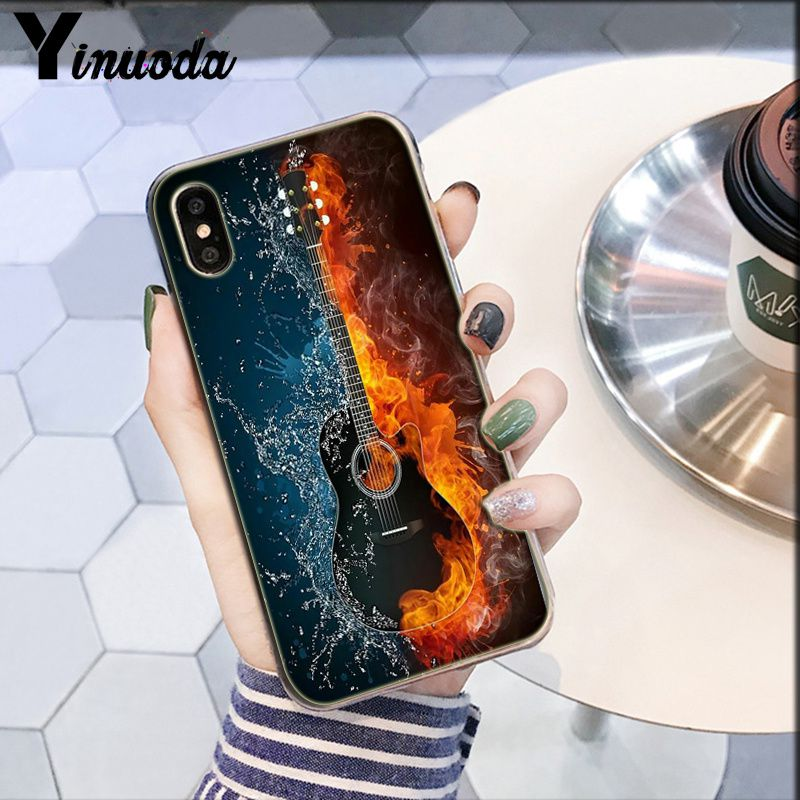 Image 2 - Yinuoda piano guitar music Newest Super Cute  DIY Phone Case cover Shell for Apple iPhone 8 7 6 6S Plus X XS MAX 5 5S SE XR-in Half-wrapped Cases from Cellphones & Telecommunications