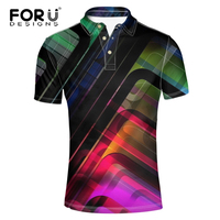 FORUDESIGNS 3d Camisa Polo T Shirt Plaid Solid Color For Men Sportwear Homme Golf Clothing Casual