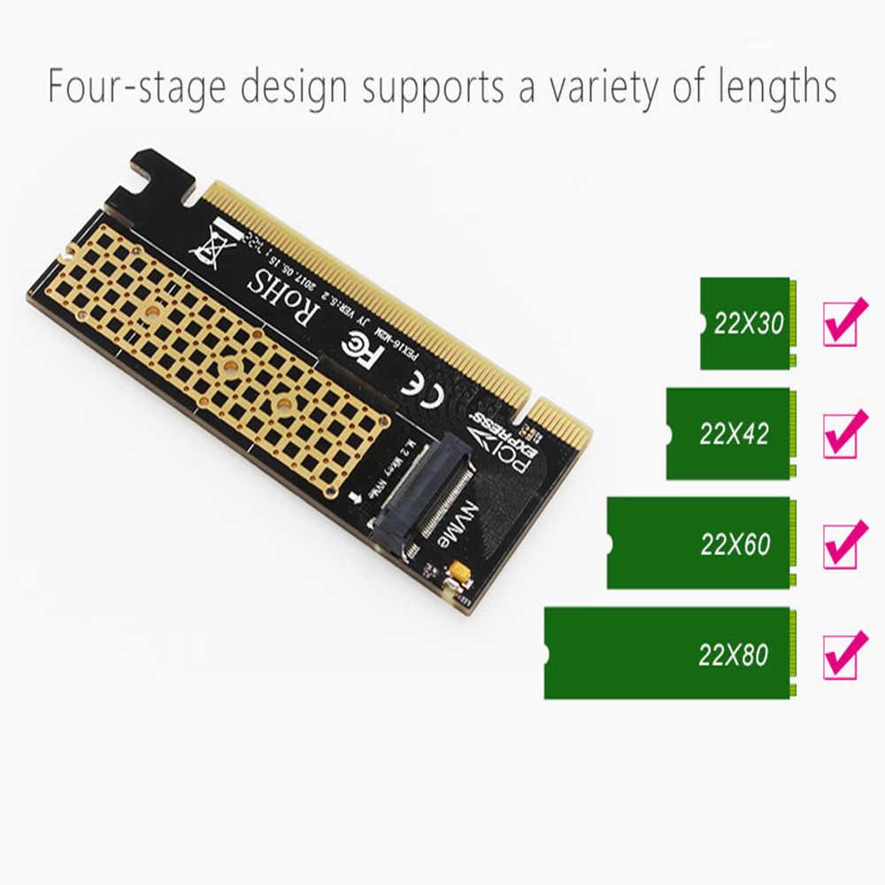 Sp 100x41mm m.2 nvme ssd ngff para pcie 16x/4x adaptador placa de expansão pcie nvme m.2 ssd para pcie cartão com dissipador de calor
