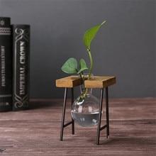 Glass Retro Vase Home Destop Decor ZAKAKA Style Micro-landscape Creative Hydroponic Bottle Office Decoration Glass Antique Vases