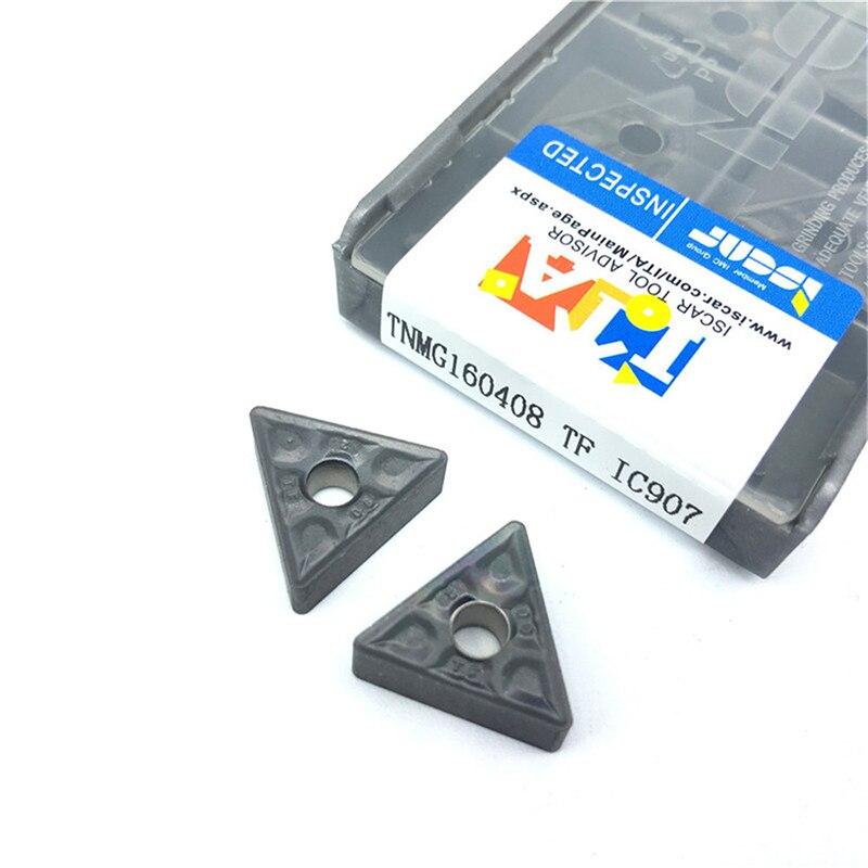 TNMG160408 TF IC907 / IC908 External Turning Tools Carbide insert TNMG 160408 Lathe cutter Tool Tokarnyy turning insert 5pcs set new 3 8 tip carbide indexable turning tool set mayitr good hardness precision insert lathe tool bit
