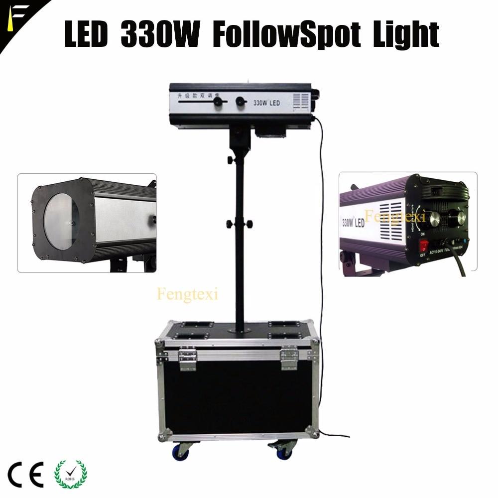 330w LED Follow Spot With Zoom Iris and RGB 6 Color Spot Theater Following Spot Wheel Aviation Flight Case packing Follwspot цены