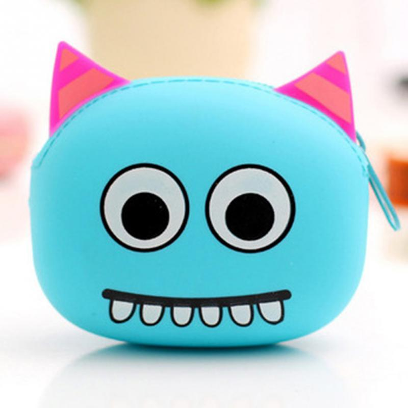 【Coin Bags】Top Women Coin Purse Wallet Cartoon Animal Silicone Hot Coin Bag Purse Girls Gift Factory Directly Wholesale OEM