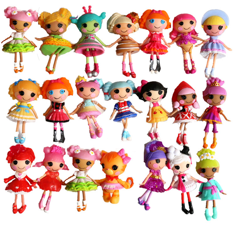 Small Toy Dolls : Kids button eyes mini lalaloopsy dolls toys action toy